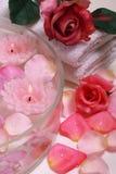 Spa aromatherapy rose Stock Photo