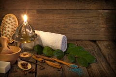 Spa aromatherapy vintage still life Stock Photos