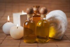 Spa Aromatic Massage Supplies Royalty Free Stock Photo