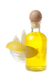 Spa Aromatic Oil and Lemon Slices Stock Images