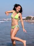 Spaß auf dem Strand Stockbild