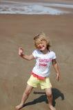 Spaß auf dem Strand haben Stockfotos