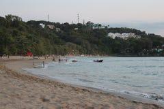 Spa? auf dem Strand lizenzfreies stockbild