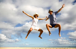 Spaß auf dem Strand, wie Höhe Liebe ist Stockfotos
