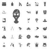 Spa avslappnande symbol Spa och för rekreation fastställda symboler Uppsättning av 33 brunnsortsymboler Fotografering för Bildbyråer