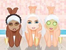Spa Bachelorette party. Illustration of spa Bachelorette party vector illustration