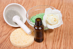 Spa background: accessory for a spa therapy Stock Photos