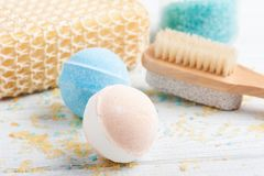 Bath bombs in waffle cones Stock Photography