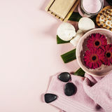 Spa background. Flat lay Stock Image