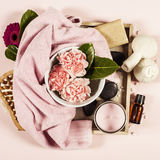 Spa background. Flat lay Stock Photography