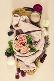 Spa background. Flat lay Stock Images