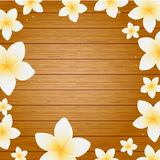 Spa background with frangipani flowers Royalty Free Stock Photos