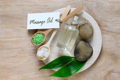 Spa background with massage oil stock photos
