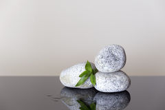 Spa background with pebbles pyramid Stock Photo
