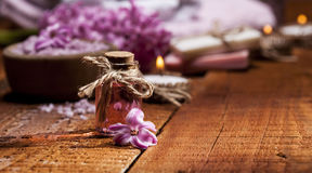 Spa background in range of pink and brown. Royalty Free Stock Photos