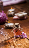 Spa background in range of pink and brown. Royalty Free Stock Image