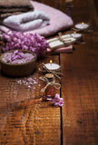 Spa background in range of pink and brown. Stock Photography