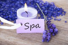 A spa background with spa label. A label with spa on it and with spa background Royalty Free Stock Photos