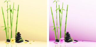 Spa background: stones, flower, bamboo Royalty Free Stock Photos