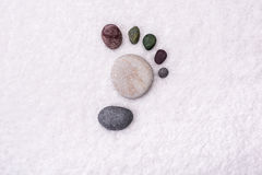 Spa background with stones. Royalty Free Stock Images