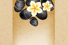 Spa stones and frangipani flowers Stock Images