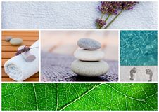Spa background tranquil scene Royalty Free Stock Images