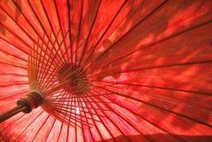 Spa bamboo umbrella Royalty Free Stock Image