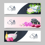 Spa Banner Set Stock Photography