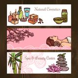 Spa Banners Set Royalty Free Stock Photo