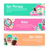 Spa banners set Royalty Free Stock Images
