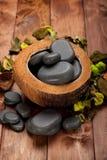 Spa - basalt stones Stock Image