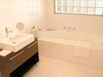 Spa bath. Interior view of a new bathroom Stock Images