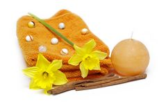 Spa and bath accessories Stock Images