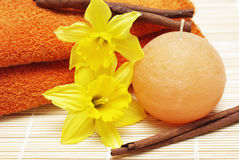 Spa and bath accessories Stock Photos