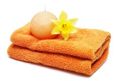 Spa and bath accessories Royalty Free Stock Image
