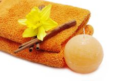 Spa and bath accessories Royalty Free Stock Photos