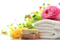 Spa and bath accessories Royalty Free Stock Photography