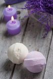 SPA Bath Bombs closeup Stock Photo