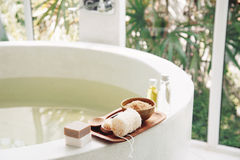 Spa bath compostition Stock Image