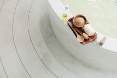 Spa bath compostition Royalty Free Stock Photos