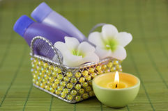 Spa Bath Items. With shallow depth of field Royalty Free Stock Images