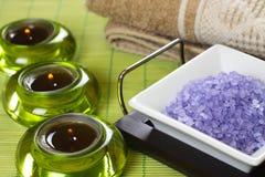 Spa and bath salt Stock Photo