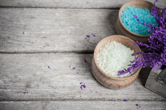 SPA Bath Salt closeup royalty free stock photo