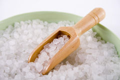 Spa bath salts Royalty Free Stock Photography
