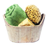 Spa bath setting stock photography