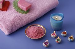 Spa and bath things Stock Photo