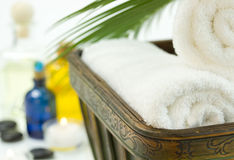 Spa Bath Towels Stock Photos