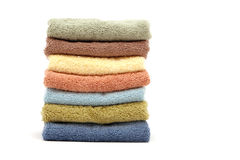 Spa / bath towels piled up Royalty Free Stock Image