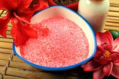 Spa Bathing Salt Royalty Free Stock Photo