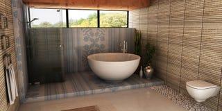 Spa bathroom stock photography